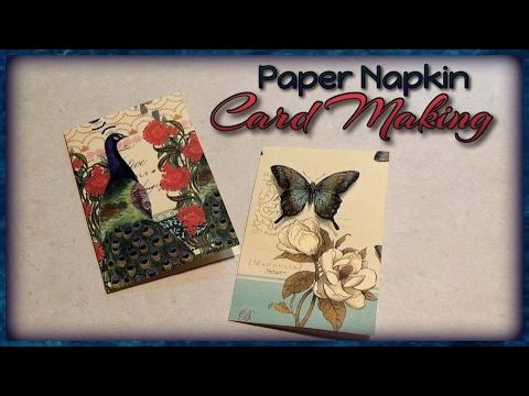 PAPER NAPKIN CARD MAKING - Transfer paper napkins onto cardstock to make your own greeting cards, gift tags, scrapbooking elements, & more with this simple technique.  The result is a nice fabric-like texture.  There are so many projects you can do using this technique. Find me on Facebook: www.facebook.com/craftiecraftie Follow me on Pinterest: www.pinterest.com/craftiecraftie Subscribe on YouTube: www.youtube.com/craftiecraftie Email me: contactcraftie@gmail.com  Music: www.bensound.com