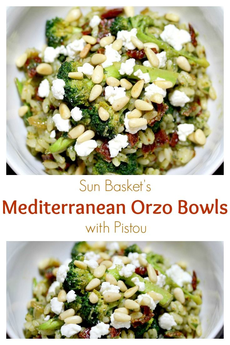 Sun Basket: Mediterranean Orzo Bowls with Pistou - Our Little Everything