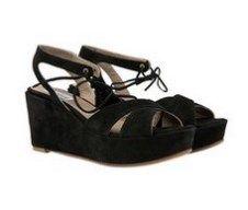 Splendour Black suede high Italian sandals