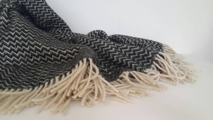 100% Wool blanket - Chevron blanket throw - Wool blanket in black and cream white -  Handmade Fashion blanket - Wool bedding-ZigZag by CottonMood on Etsy https://www.etsy.com/uk/listing/269678723/100-wool-blanket-chevron-blanket-throw