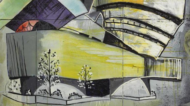 """KULTUR EXPERIMENT IN FRANKFURT 16:32 Reicht es aus, wenn wir uns der Kunst nur erinnern? Wir schreiben das Jahr 2052 – die Museen sind von der Auslöschung bedroht. Das MMK in Frankfurt fragt in der visionären Schau """"Das imaginäre Museum"""": Was bleibt, wenn alle Kunst zerstört würde?  Martin Kippenbergers """"The Modern House of Believing or Not"""" von 1985"""