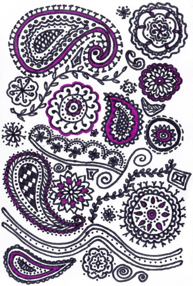 My first attempt at drawing mehndi patterns. | mixed media ...