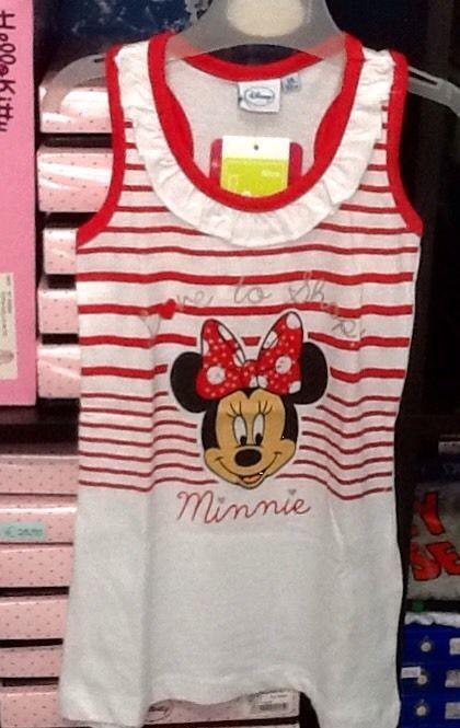 Vestito bambina Minnie senza manica prendisole rosso 2 anni idea regalo