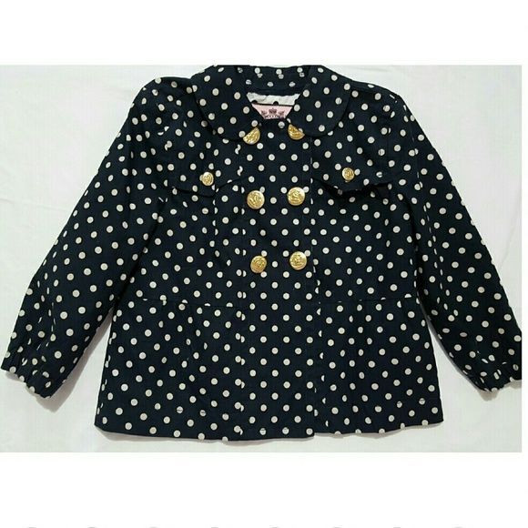 ??Authentic Juicy couture jacket Super chic navy blue by Juicy Couture. Must have staple! Great condition. Need wasing Juicy Couture Jackets & Coats