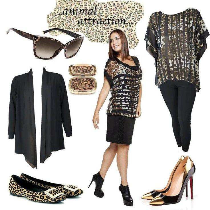 Un #animalier inedito per il primo #curvy outfit della stagione! Grintosa, glamour ed elegante: questa è la donna #ElisaLandri