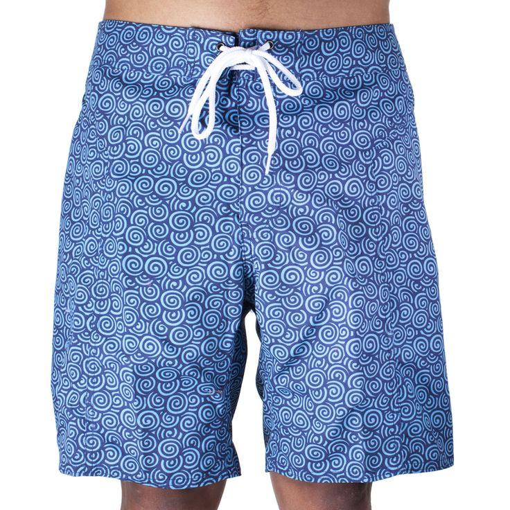Trunks Men's Salty Board Shorts – Navy Swirls
