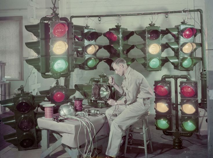 Traffic Lights Are Made In Shreveport, Louisiana, And Sent Around The U.s. And Abroad, December 1947