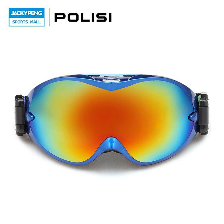 POLISI Men Women Ski Snow Goggles Gafas UV Protection Double Layer Lens Skiing Glasses Anti-Fog Mountain Snowboard Eyewear #Affiliate
