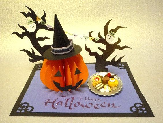 """Halloween"" / Paper craft and Calligraphy"