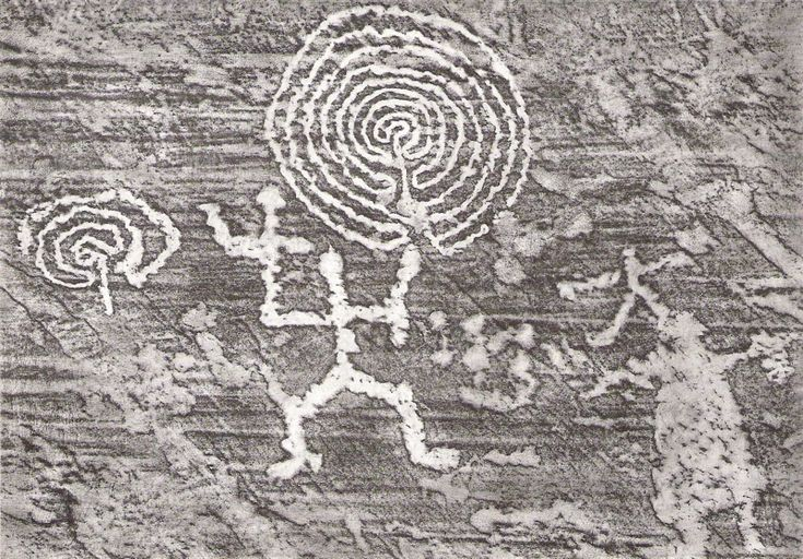 Labyrinths, Val Camonica, Italy, 8000 BC, resembles many glyphs found in SW U.S.