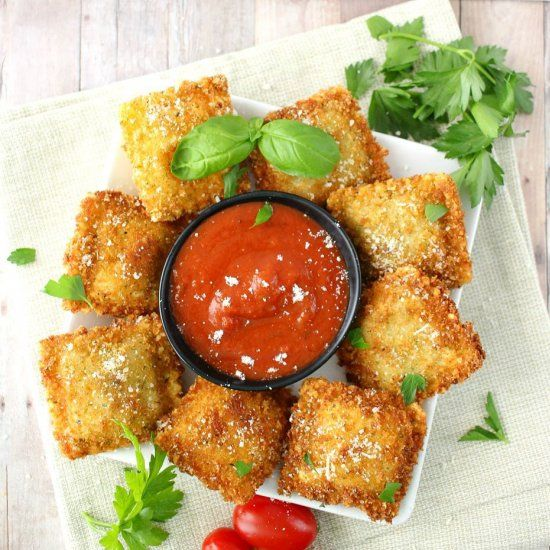 Fried Ravioli is made with cheese ravioli, coated …