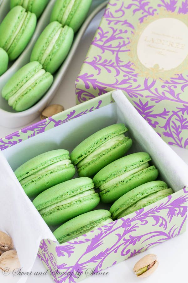 Follow my easy step-by-step photo tutorial to these Classic Pistachio Macarons filled with Ladurée pistachio cream. Simply the best!