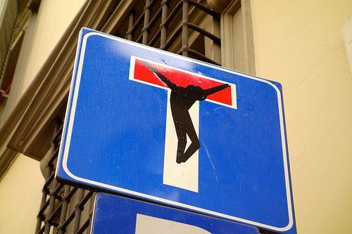 Street art Florence, by Clet by Emiel van den Boomen, via Flickr