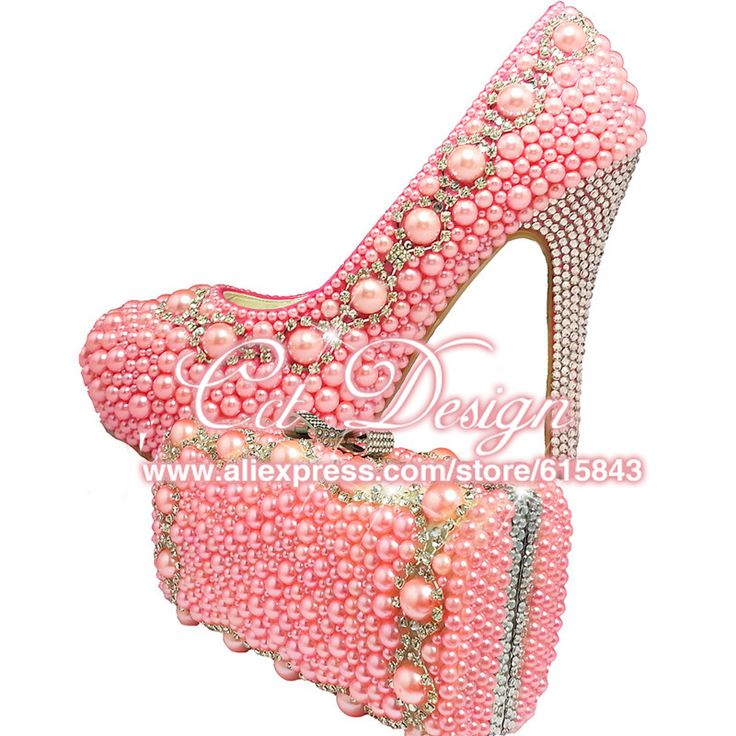 >> Click to Buy << Something Pink Wedding Shoes Customized High Heels Platfrom Party Evening Shoes Pink Italian Shoes With Matching Bags #Affiliate