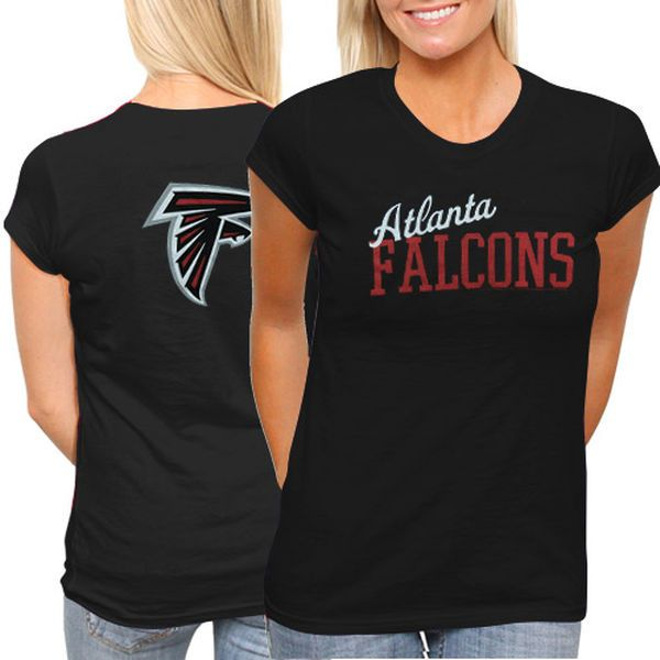 Atlanta Falcons Ladies Game Day T-Shirt - Black