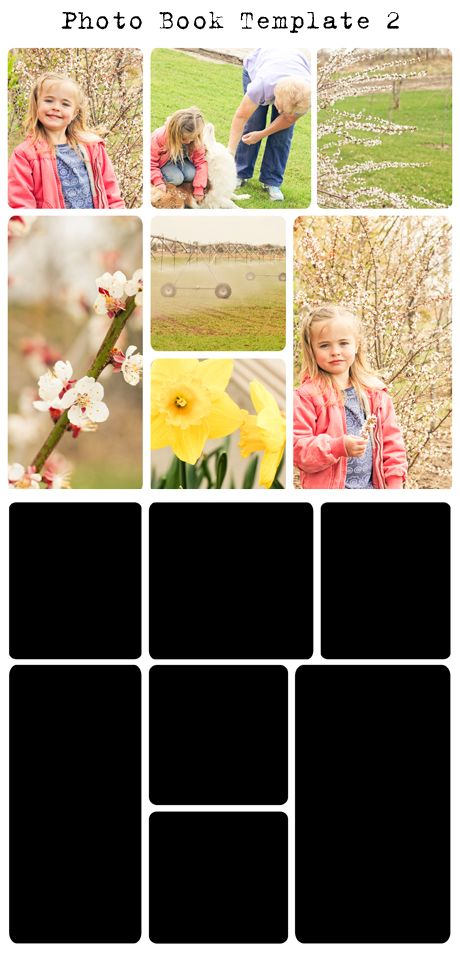 I definitely want to try this layout. free digital project life photo template