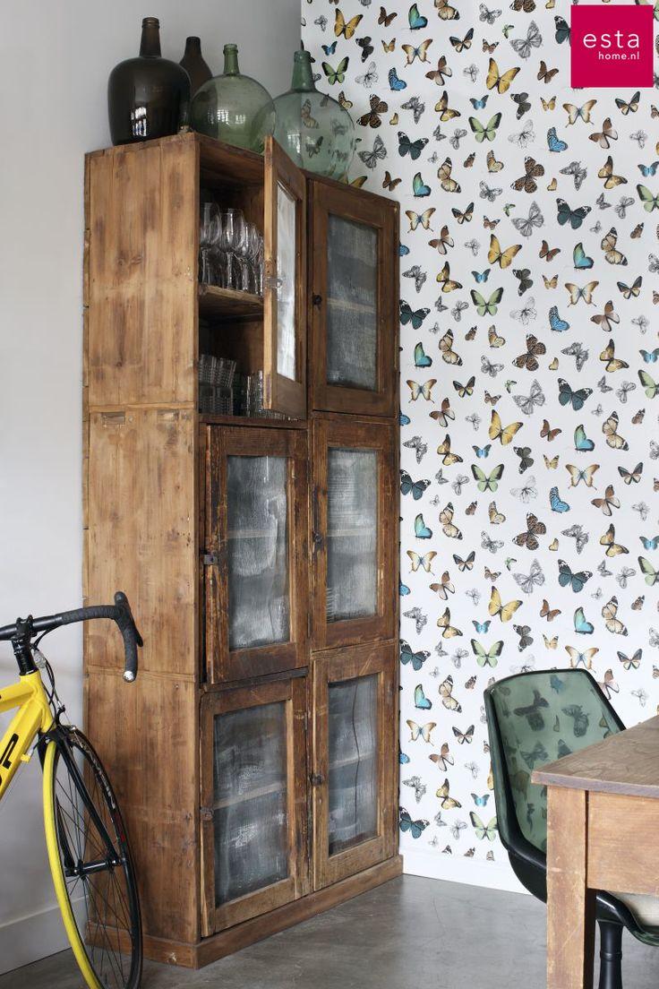 behang met vlinders collectie Brooklyn Bridge ESTAhome.nl