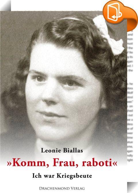 Komm, Frau, raboti : Leonie ist vierzehn Jahre alt, als sie mit ihrer Mutter und ihrem jüngeren Bruder im Januar 1945 aus Breslau flüchten muss. Weit kommt sie nicht, denn die Rote Armee hat die Stadt in einem weitläufigen Ring umzingelt. Die Flüchtlinge müssen wieder umkehren und geraten schon Anfang Februar in die Hände der Russen. Es folgen Vergewaltigung, Verschleppung und Zwangsarbeit. Der drohenden Deportation nach Russland entgeht Leonie nur durch eine abenteuerliche Flucht ...