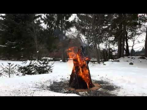 HD Campfire - Winter -Original Sound - Tábortűz - YouTube