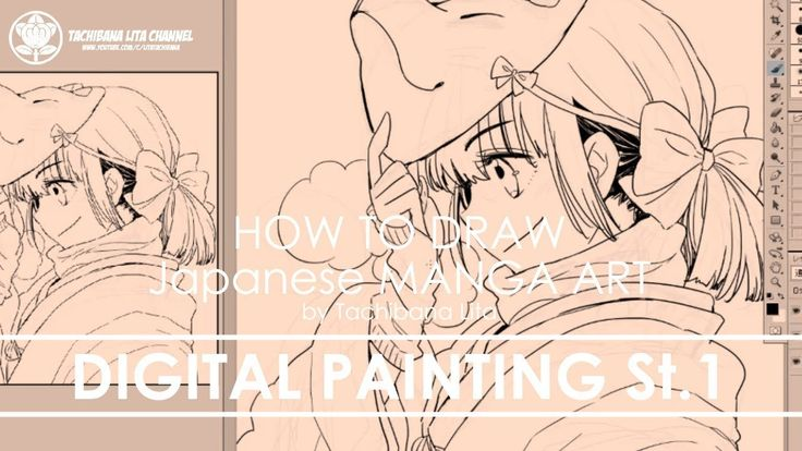 ✔ Digital Painting St.1 Inking   How to draw Manga Art 2018.01.04