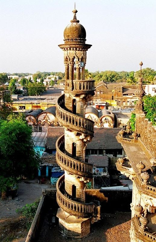 Spiral staircase in Mahabat Maqbara  India  This stairway is one of four  belonging to the Mahabat Maqbara   a mausoleum of a nawab of Juanagadh 114 best Architect India images on Pinterest   Architects  . Most Beautiful Architecture In India. Home Design Ideas
