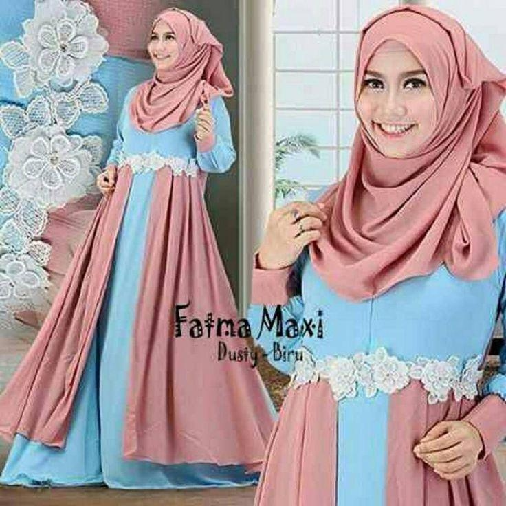 5 Model Baju Gamis Fatma Terbaru