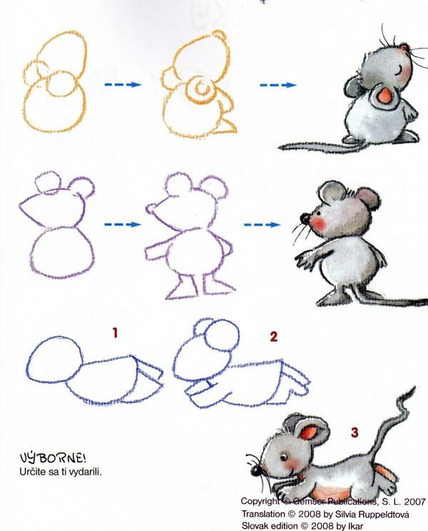 Muis tekenen met kleuters 2