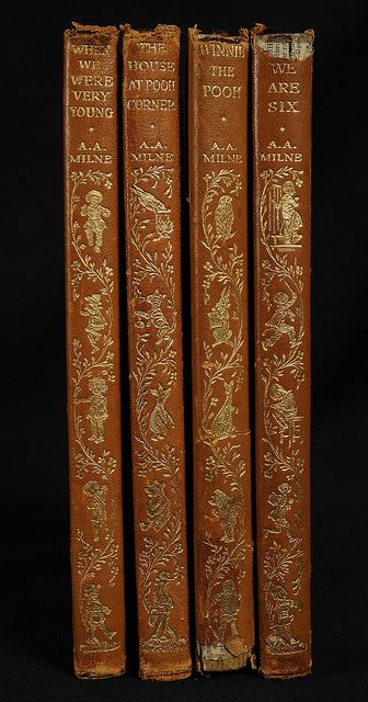 Winnie the Pooh Spine Details by Hopkins Rare Books, Manuscripts, & Archives | Pinned by Tara Blais Davison