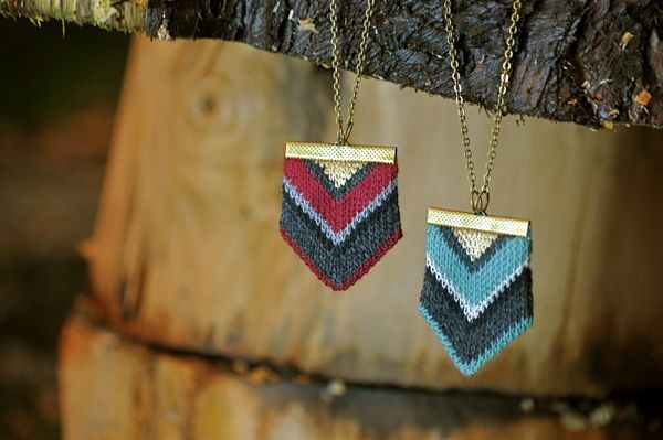 Knit Jewelry! Chevron - Teal by Amy Lawrence, via Behance
