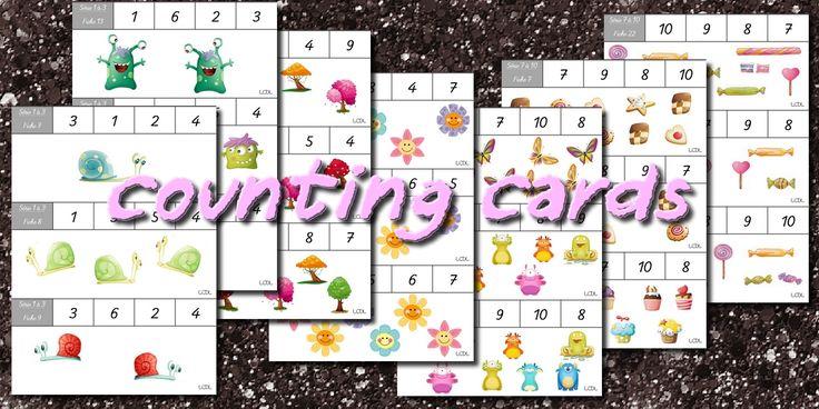 La maternelle de Laurène: Counting cards - cartes à compter