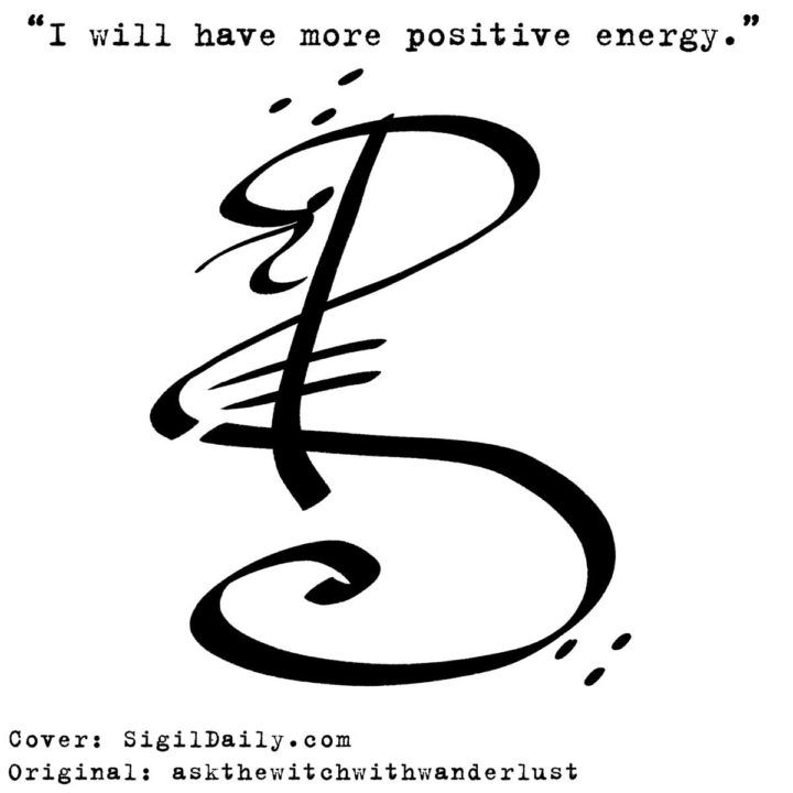 "Sigil Cover: ""I will have more positive energy"""