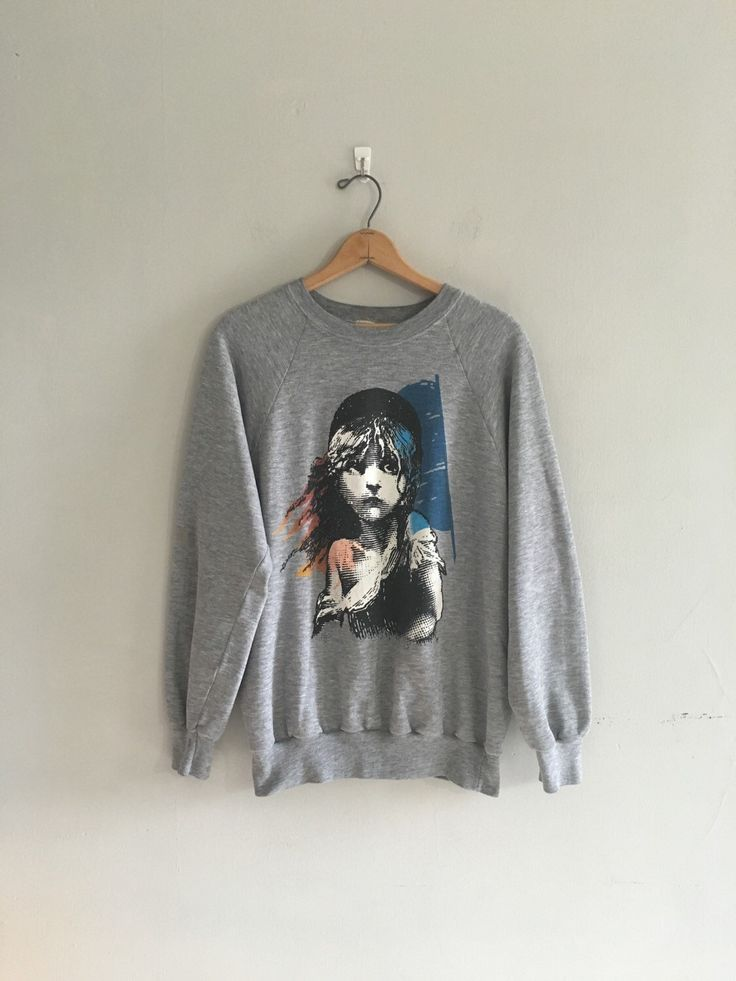 Vintage distressed Les Miserables sweatshirt. Show off your Broadway love!   Free sipping on all orders over $100 https://www.etsy.com/listing/266537081/1980s-les-miserables-sweatshirt-broadway