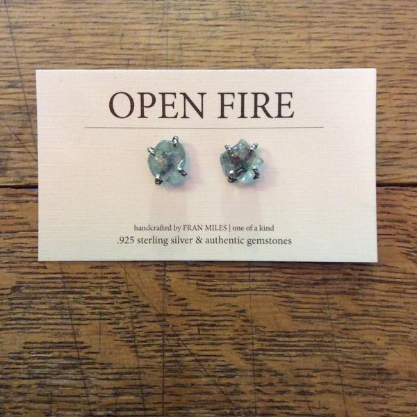 Earrings - Wire Gemstone Studs By Open Fire