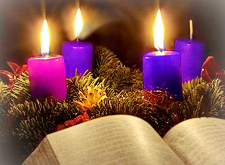 """In some regions the third candle on the advent wreath is pink, reflecting the liturgical colours of """"Gaudete"""" Sunday, when the priest can wear rose -coloured vestments. Description from ordinariateexpats.wordpress.com. I searched for this on bing.com/images"""