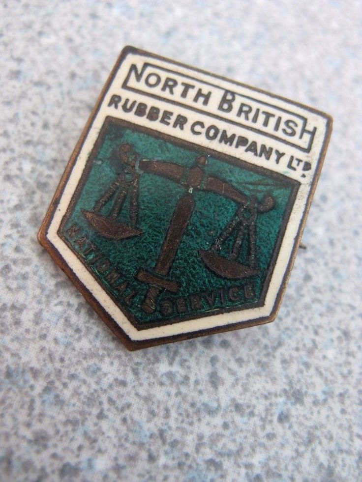 WW2 NORTH BRITISH RUBBER COMPANY LTD NATIONAL SERVICE HOME FRONT ENAMEL BADGE