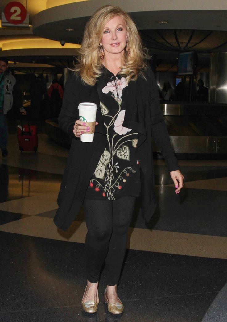 Morgan Fairchild is seen at Los Angeles International Airport on April 07, 2015.