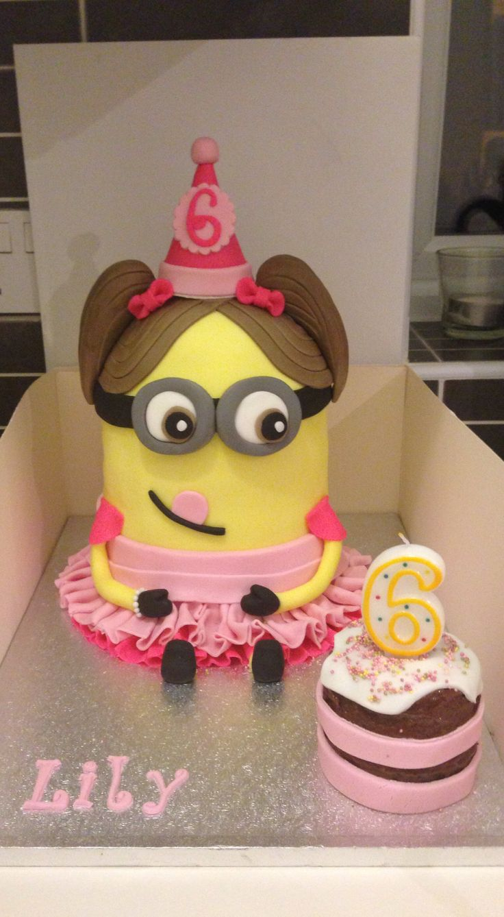 Girl Minion Cake Images : Minion cake! Made to look like the birthday girl! Follow ...