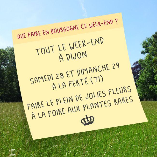 Week-end du 27 au 29 mars 2015 en #Bourgogne