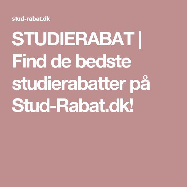 STUDIERABAT   Find de bedste studierabatter på Stud-Rabat.dk!