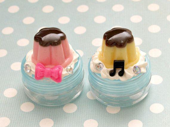 Decoden kawaii pill case jewelry case pudding flan by Aya1gou, $5.00