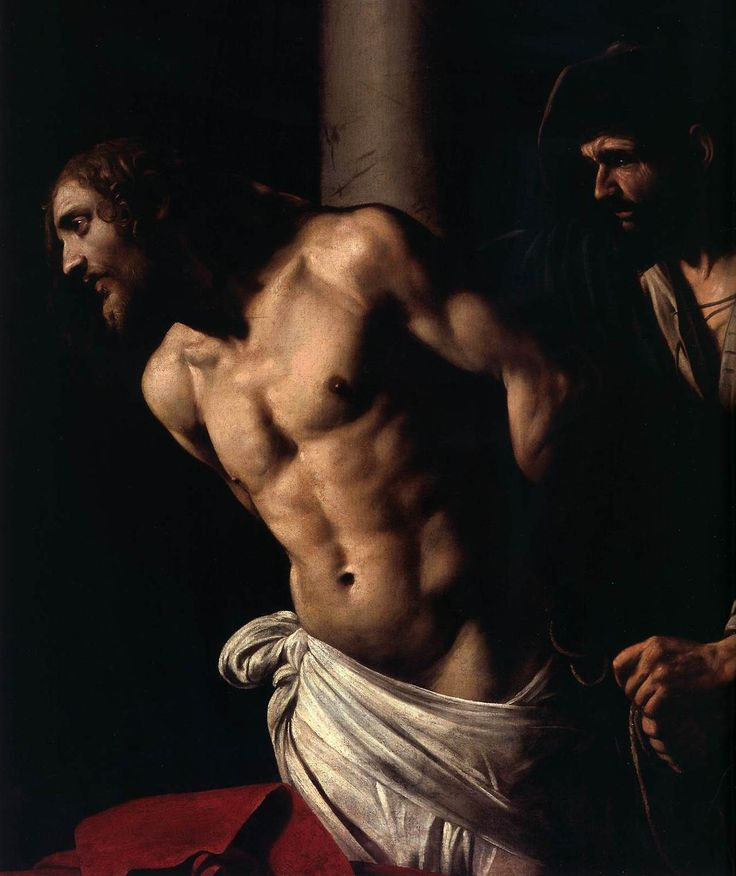 CARAVAGGIO Christ at the Column (detail)