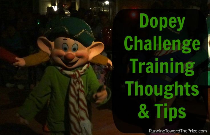 Thoughts and tips regarding training for the runDisney Dopey Challenge!