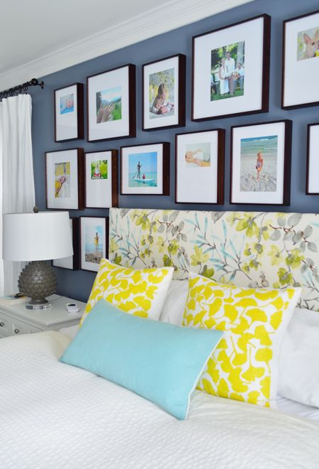 Master bedroom wall of frames (click through for how we did it and all the befores)