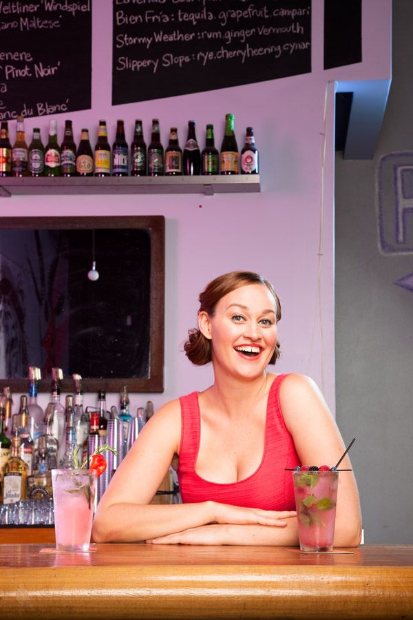 """The awesome Mamrie Hart, equal parts supercrush material and my principal alcohol enabler.    """"You Deserve A Drink"""""""