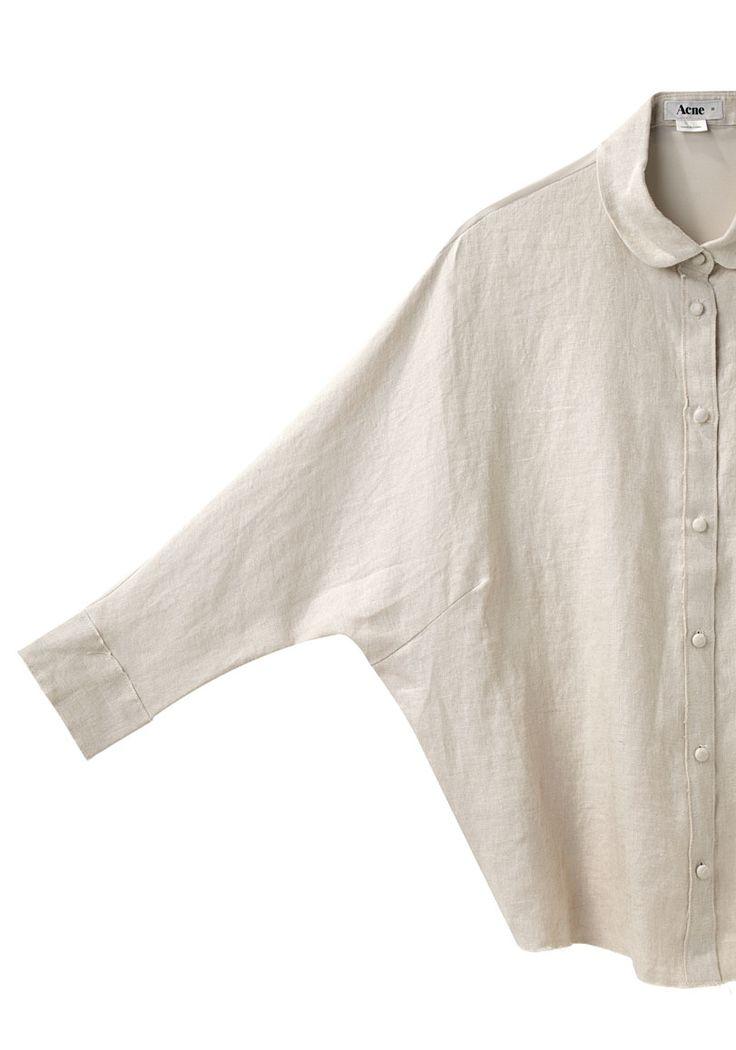 Acne, slouchy linen shirt