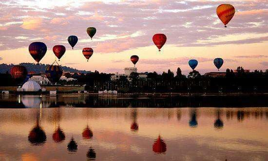 Balloon Festival in March, Canberra