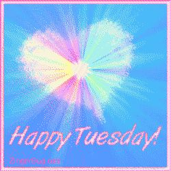 Happy Tuesday Funny Sayings | Happy Tuesday Pastel Starburst Glitter Graphic Glitter Graphic Comment