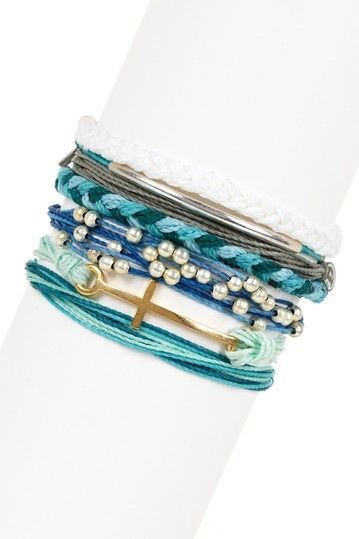 Seabreeze Assorted String Bracelet Set by Pura Vida on @HauteLook