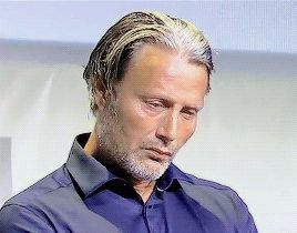 Mads Mikkelsen's soul leaving his body while other people are talking