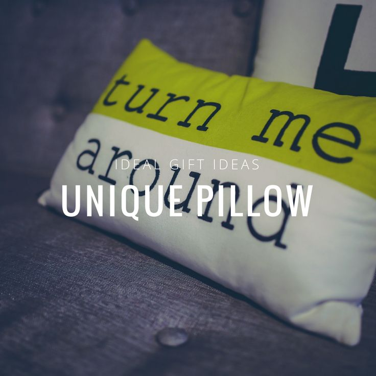 Everybody sleeps. That already makes a pillow a great present. And the fact, that you can combine usefulness and funny style of it, makes it a perfect one! http://bit.ly/2rMC3lB